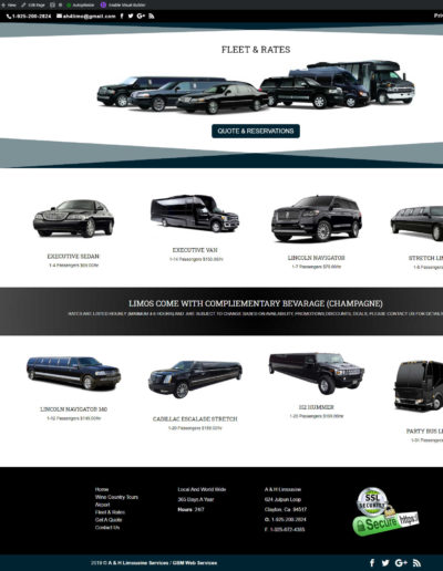 Limousine Inventory and cost page